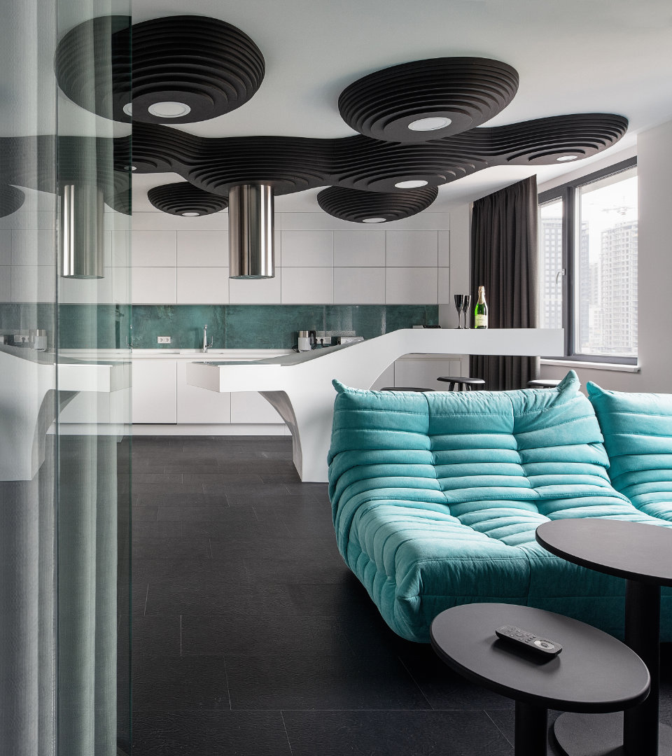 modern appartement interior in kyiv city