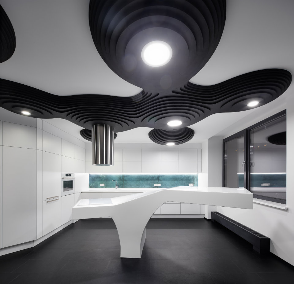 black octopus interior design in Kyiv city