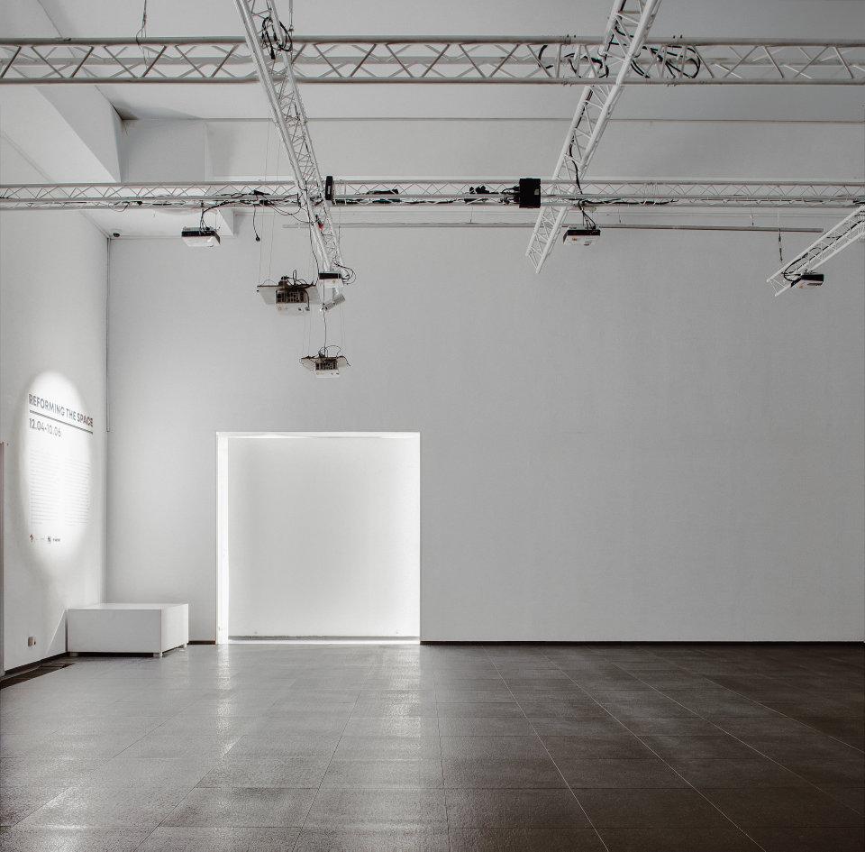 White simple exhibition zone
