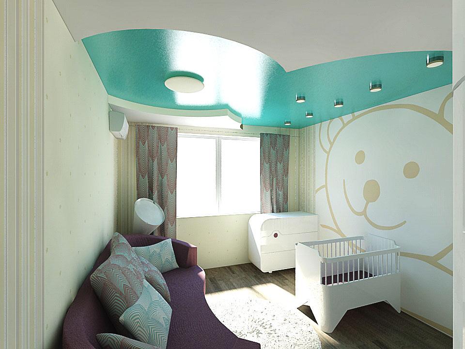 дизайн интерьера детской комнаты в москве