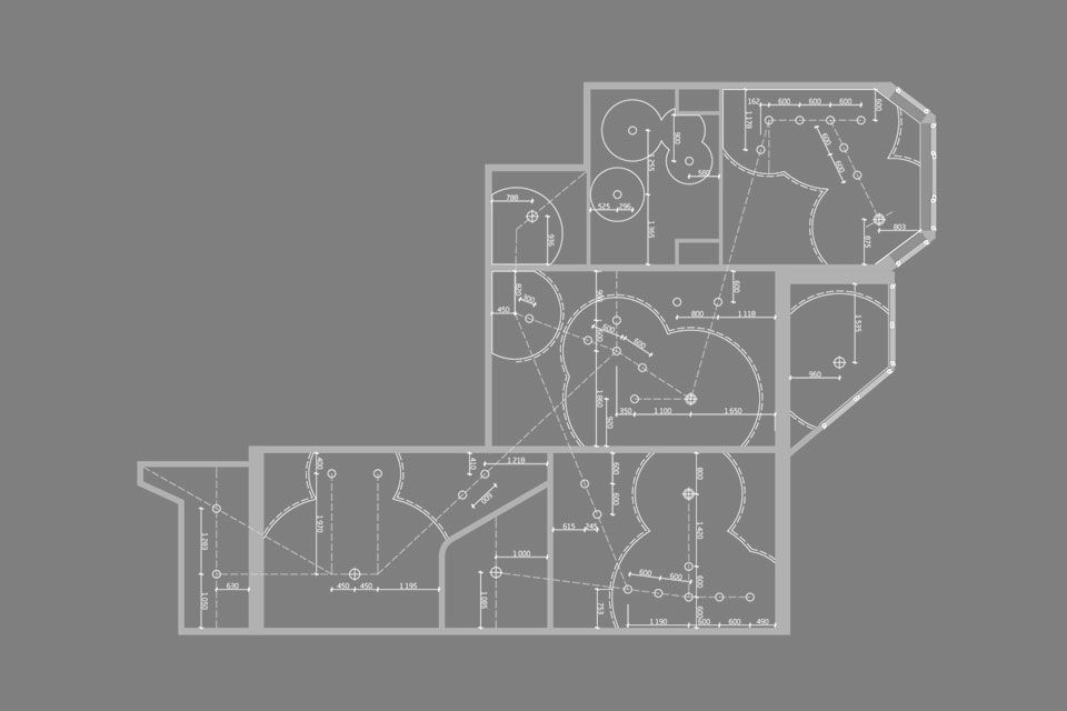 план-схема привязки светильников