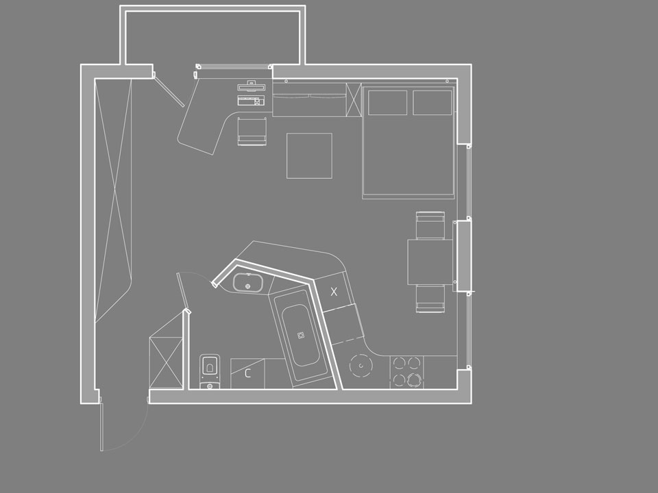 план перепланировки квартиры-студии