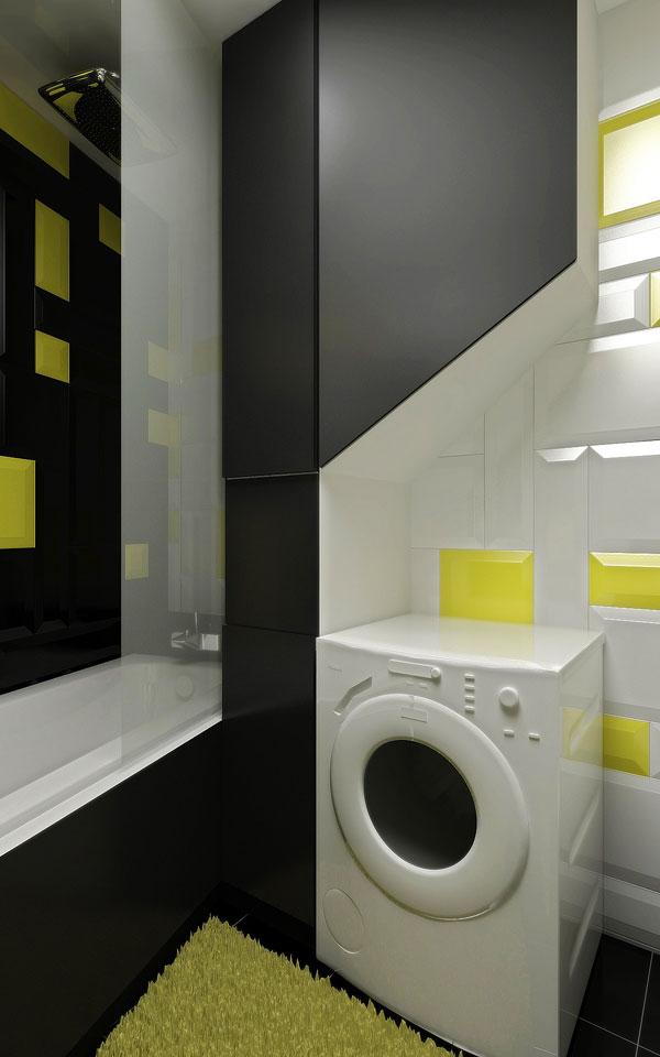 дизайн полок-шкафа в ванной комнате