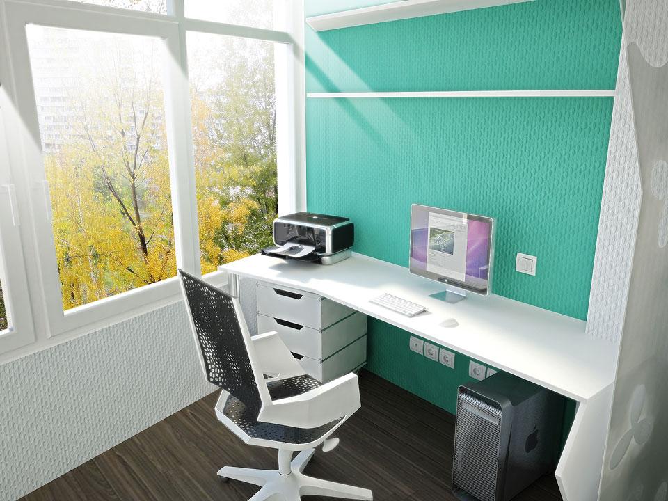 дизайн рабочего места в студии