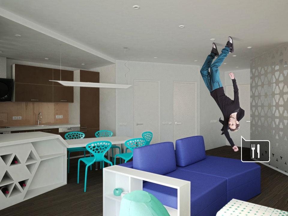 дизайн интерьера пространства студии