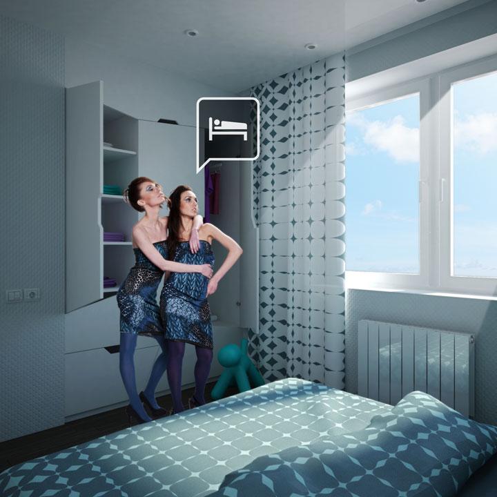дизайн нестандартной мебели в спальне