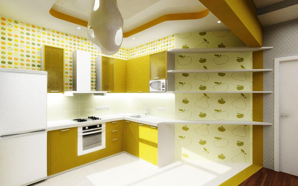 кухня совмещенная с гостиной-столовой