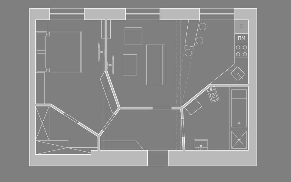 диаграмма вороного в планировке интерьера квартиры