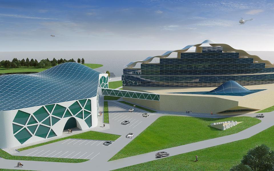 архитектура отельно-досугового центра