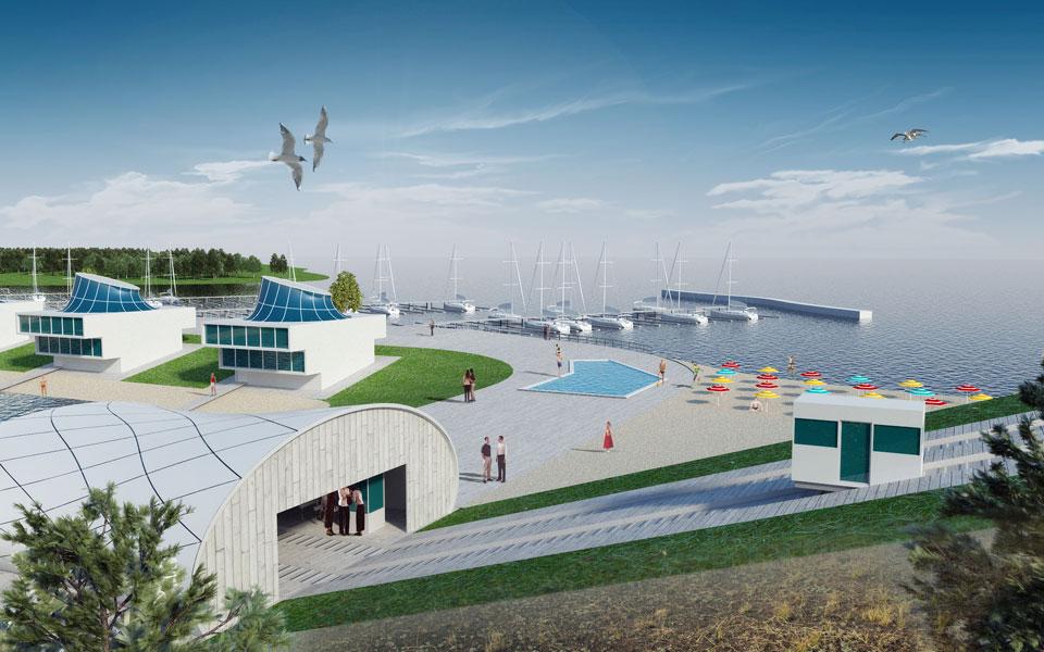 проект отельного центра с аквапарком на днепре