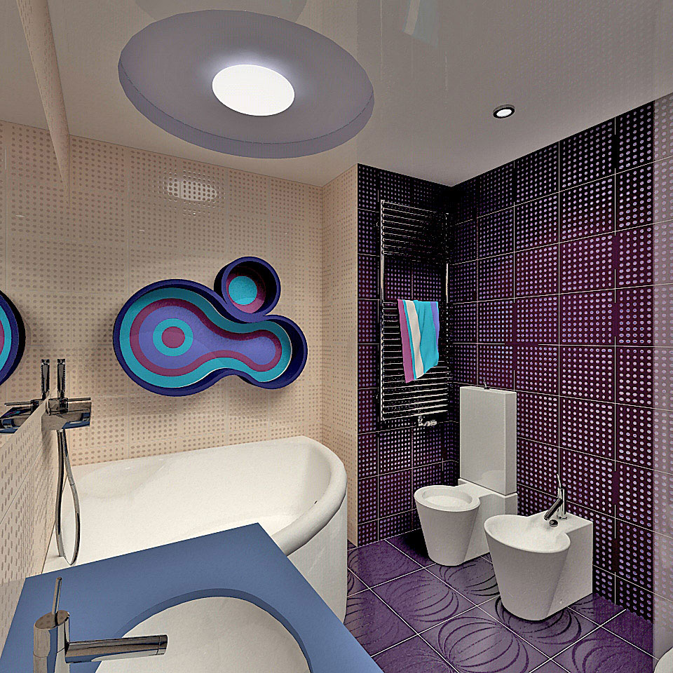 параметрический дизайн интерьера московской квартиры (ванная)