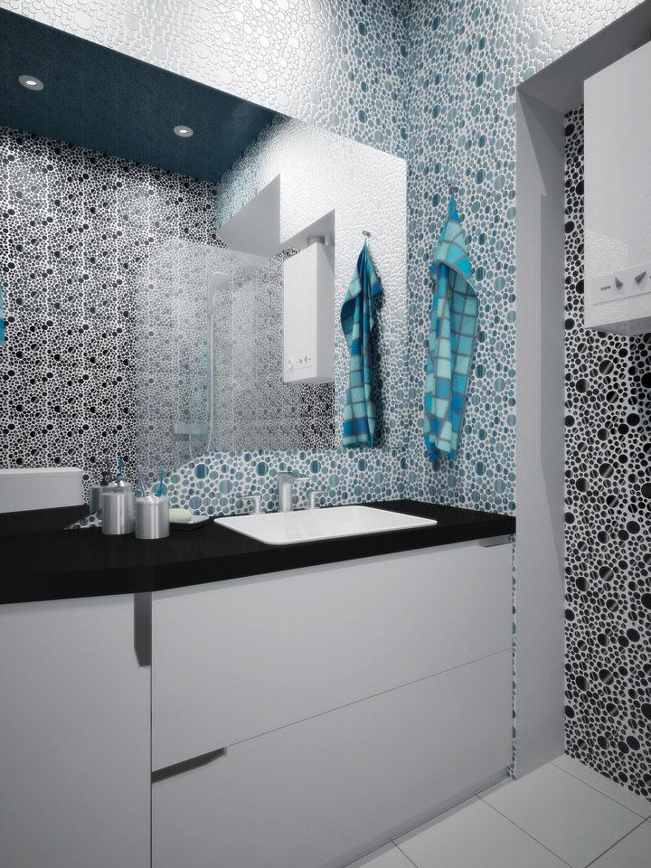дизайн интерьера современной ванной комнаты