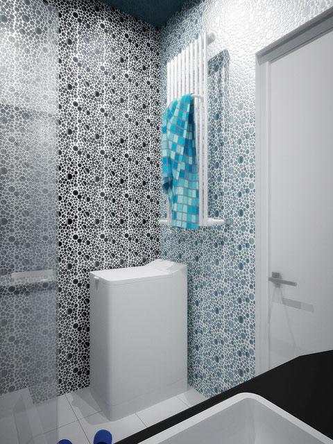 дизайн ванной / душевой со стиральной машиной