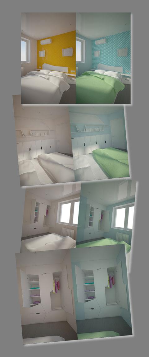 цветовое решение, дизайн спальни