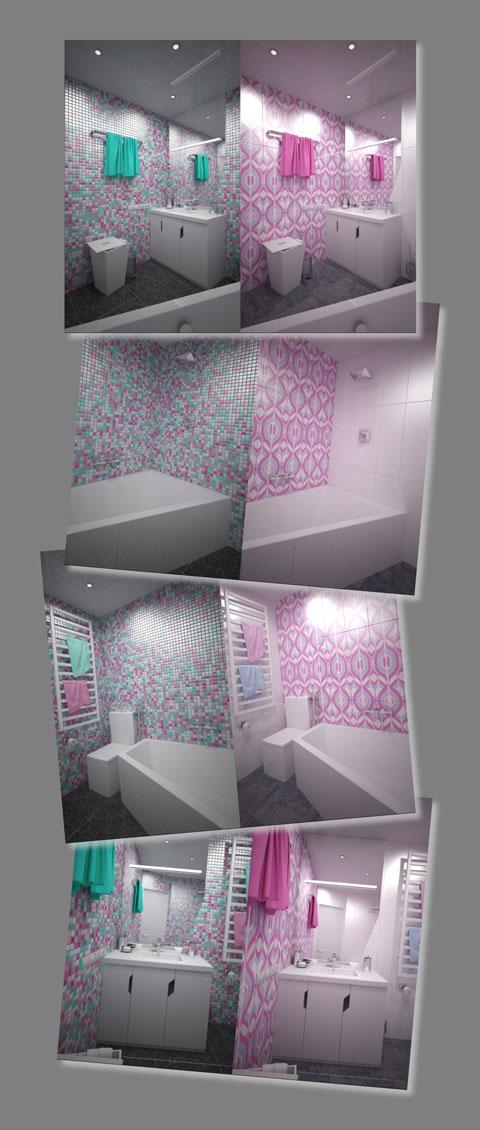 цветовое решение, дизайн ванной комнаты