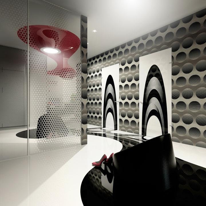 наливной пол - дизайн интерьера коридора