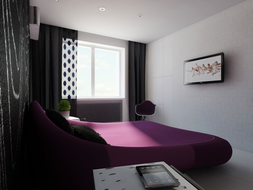 современные спальни - киевские параметрические апартаменты
