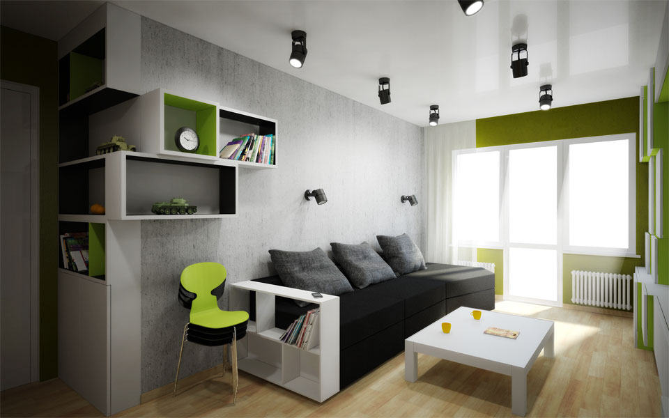 параметрический дизайн интерьера комнаты в москве