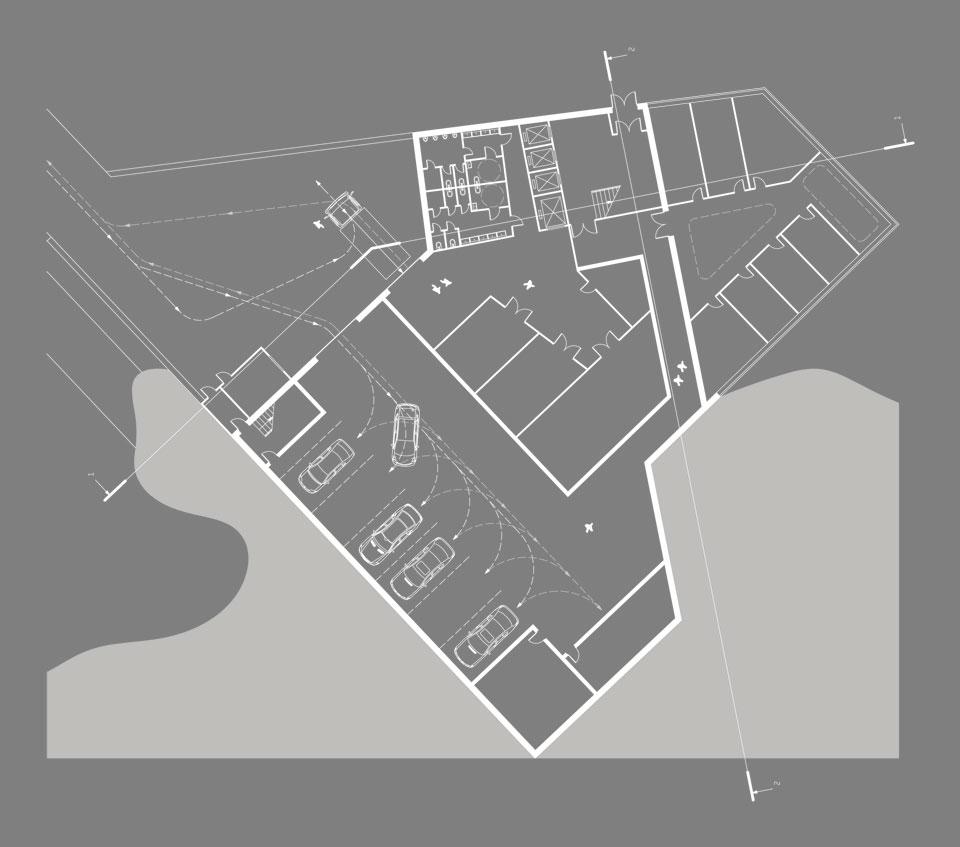 конкурс на андреевском спуске - план подземного этажа