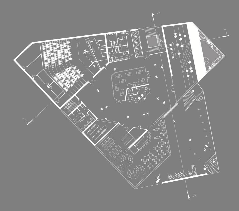 архитектурная концепция на андреевском - план нулевого этажа