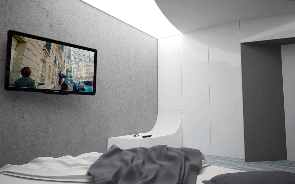 параметрический дизайн спальни - кварира в киеве