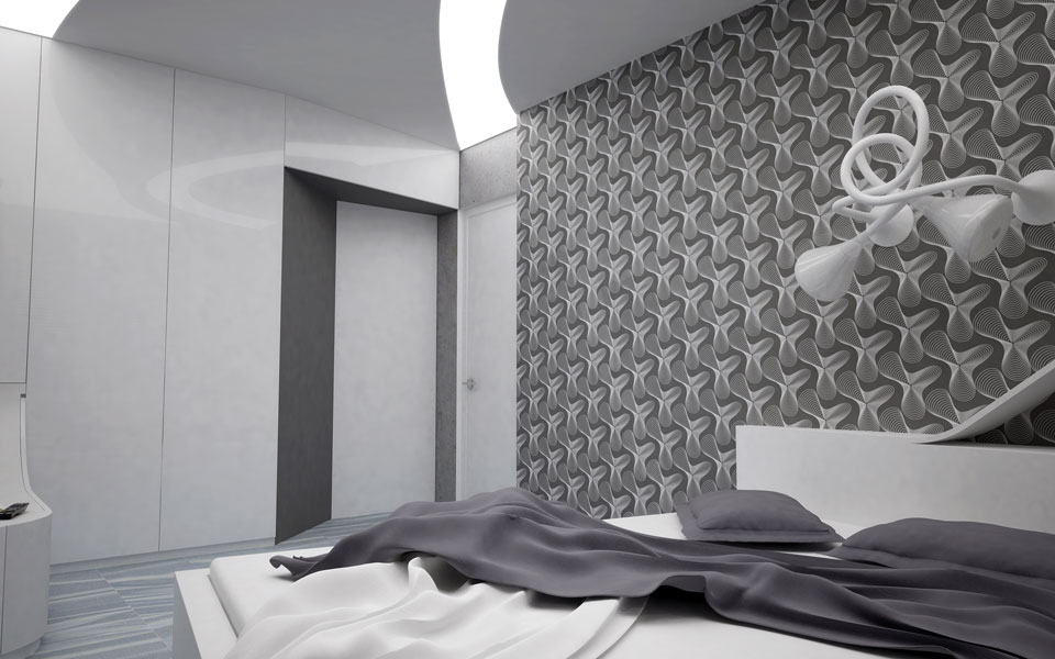 магнитное поле - параметрический интерьер спальни