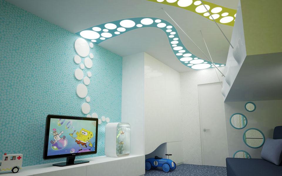 параметрический дизайн - детская комната в киеве