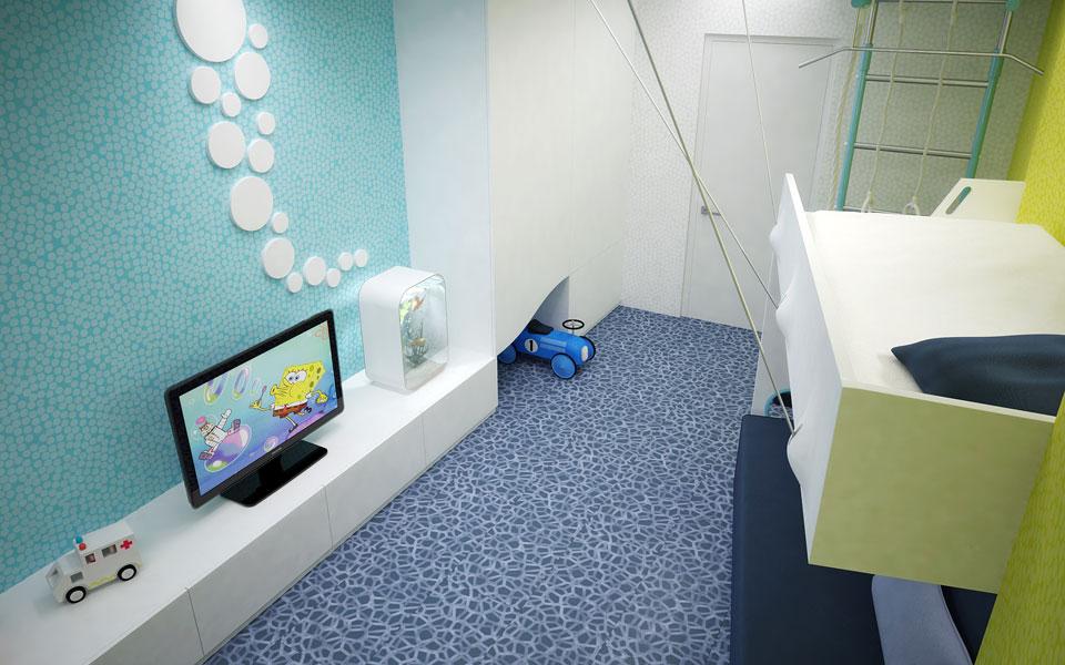 параметрическая архитектура интерьера детской комнаты