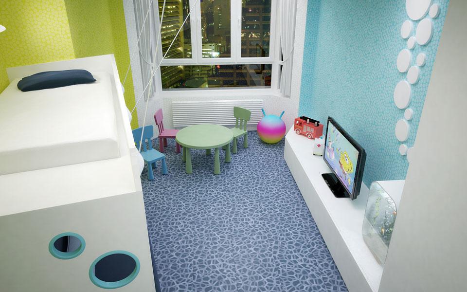 детская комната - дигитальный дизайн интерьера, урловская