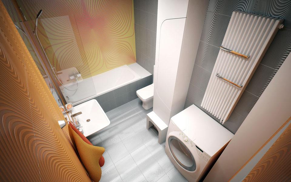 современный дизайн ванной, киев, урловская 40