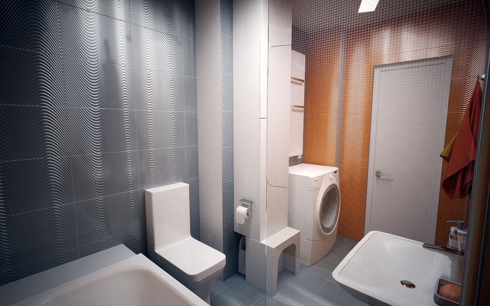 дигитальная архитектура интерьера ванной комнаты киев