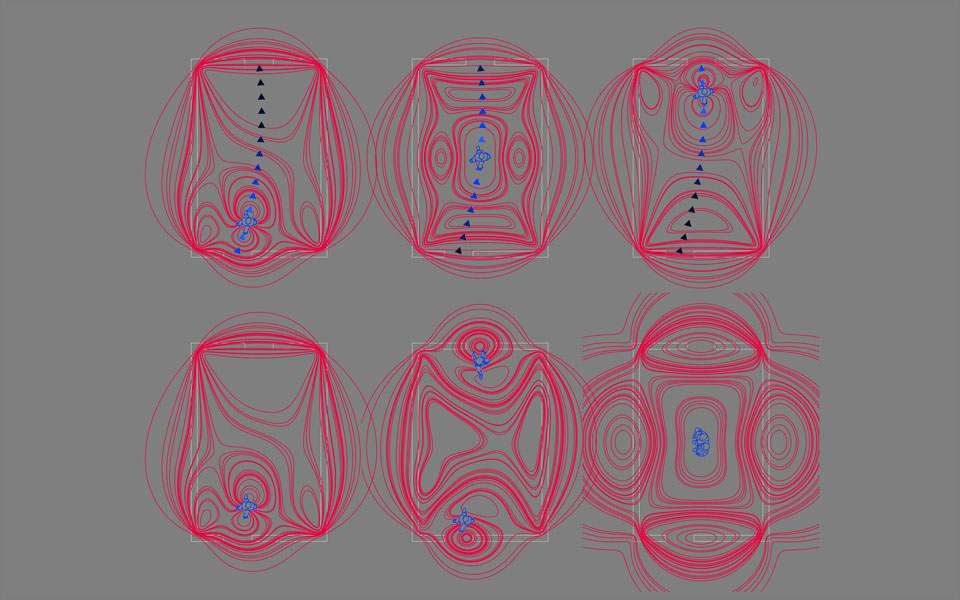 параметрическая архитектура - диаграмма магнитных полей
