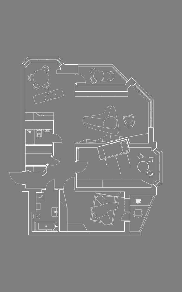план квартиры - параметрическая архитектура, киев