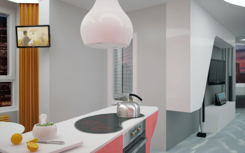 дигитальный интерьер трехкомнатной квартиры в киеве