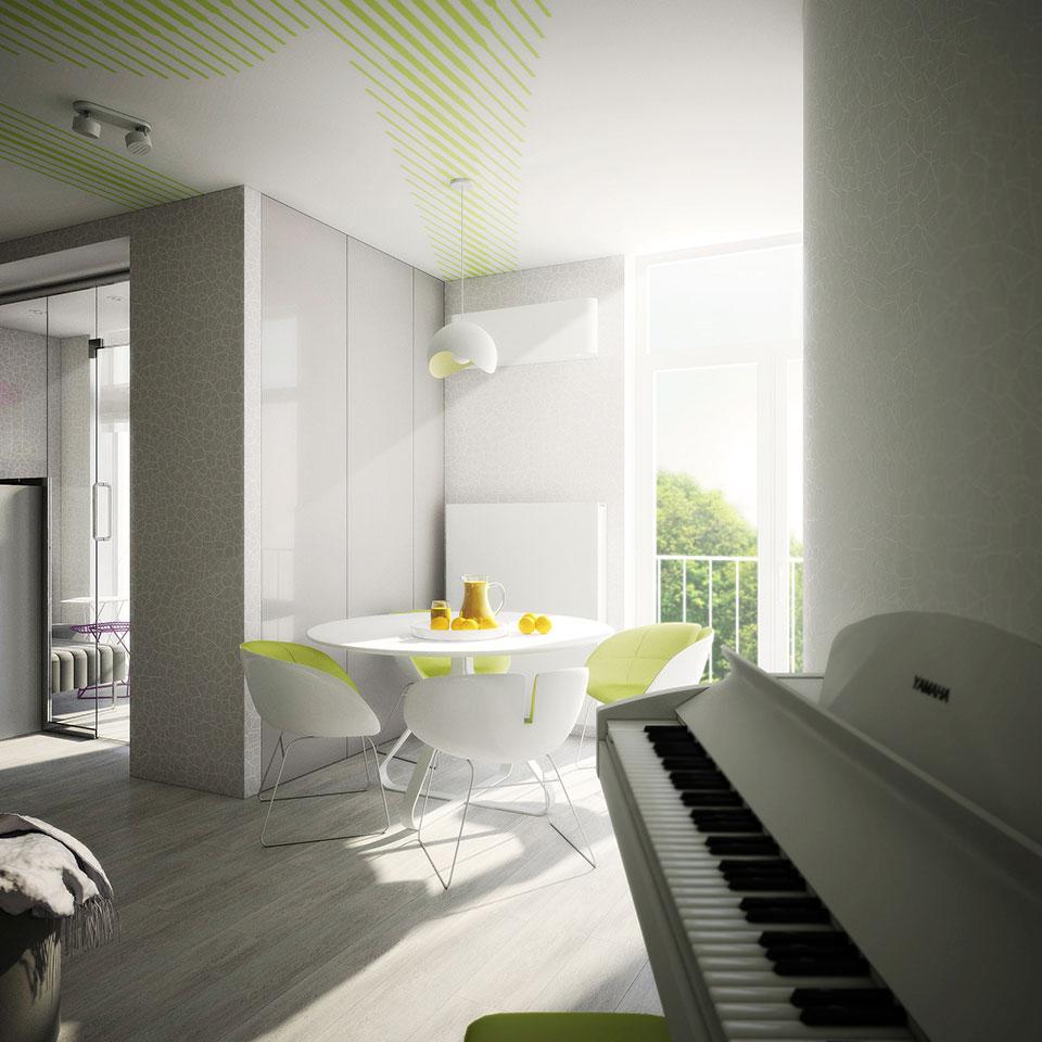 комфорт таун, дизайн двухкомнатной квартиры