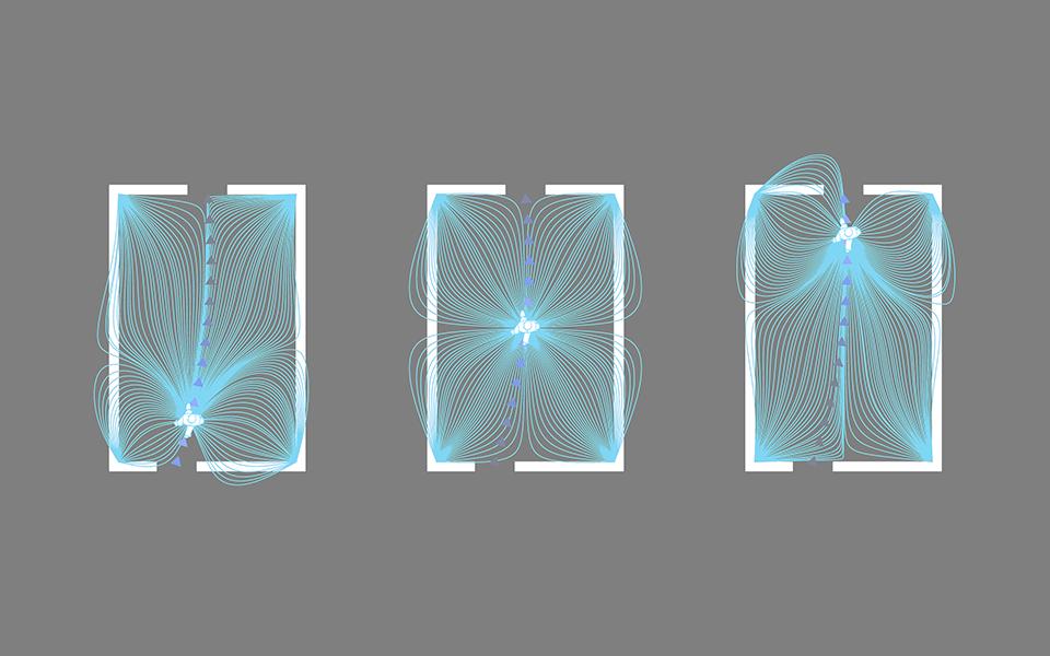 магнитные линии, вычислительная архитектура
