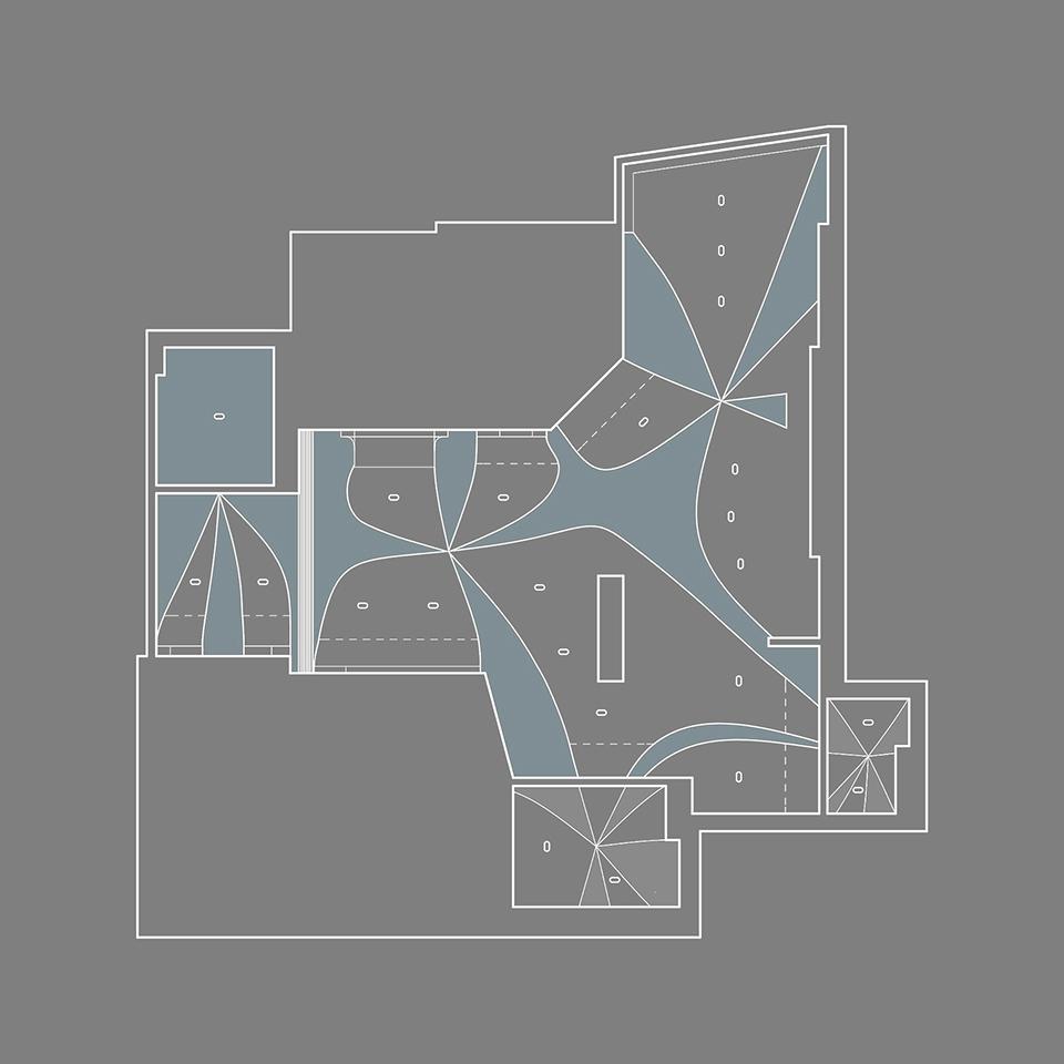 дизайн интерьера, план потолка