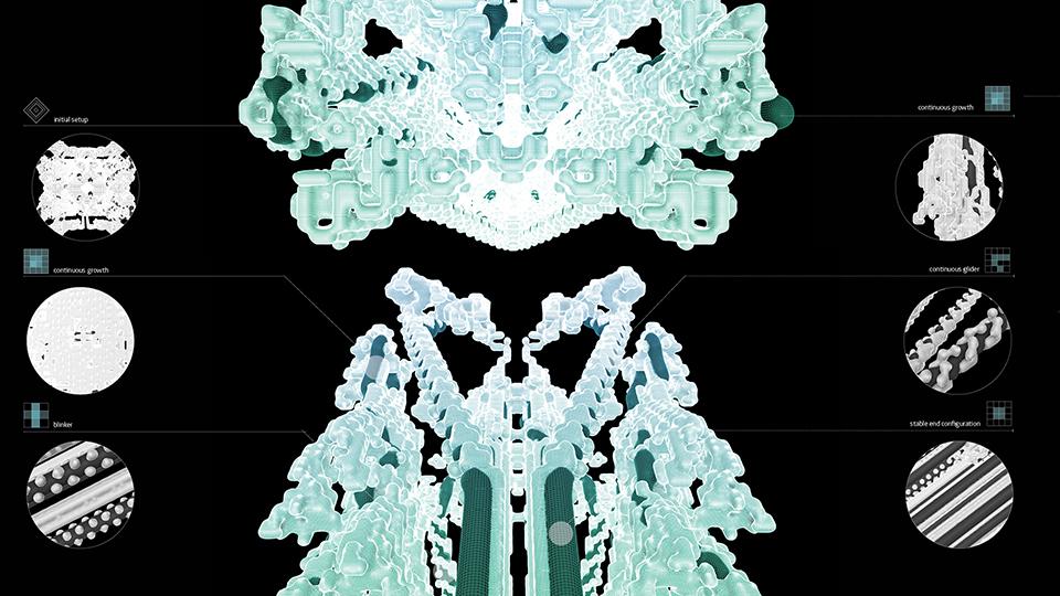 вычислительная архитектура - клеточные автоматы АА