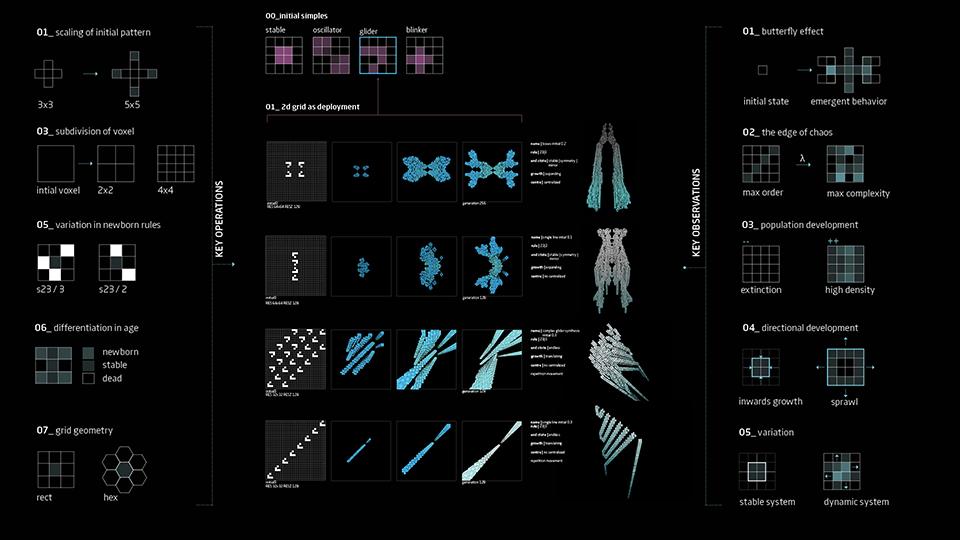 клеточные автоматы - игра жизнь - архитектура