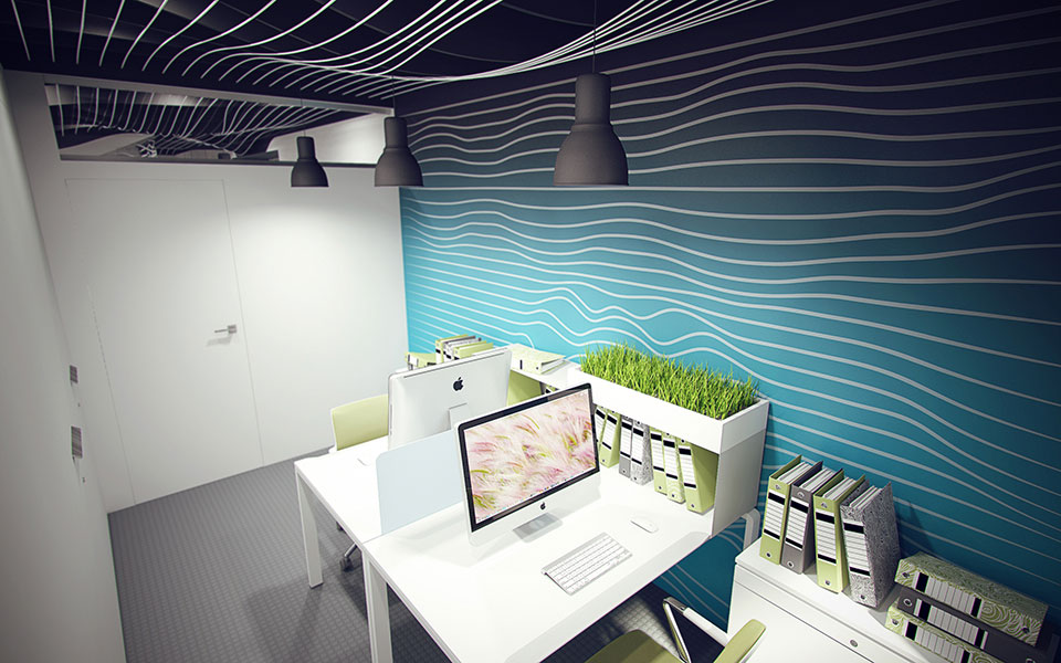 параметрический интерьер офиса - дизайн киев