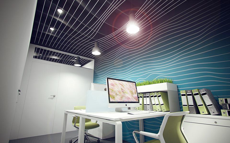 алгоритмический дизайн - интерьер офиса киев