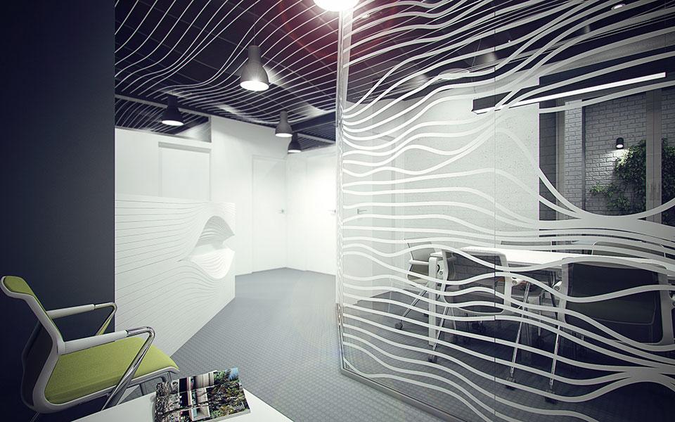 интерьер офиса киев - параметрический дизайн