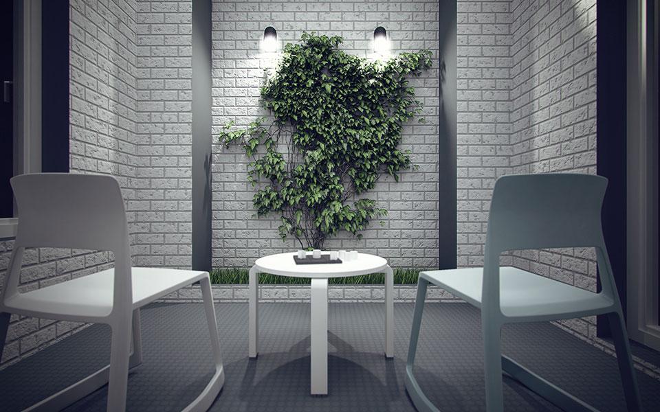 дизайн офиса киев - вертикальное озеленение