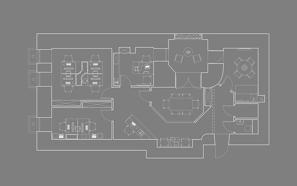 дизайн интерьера киев - планировка офиса