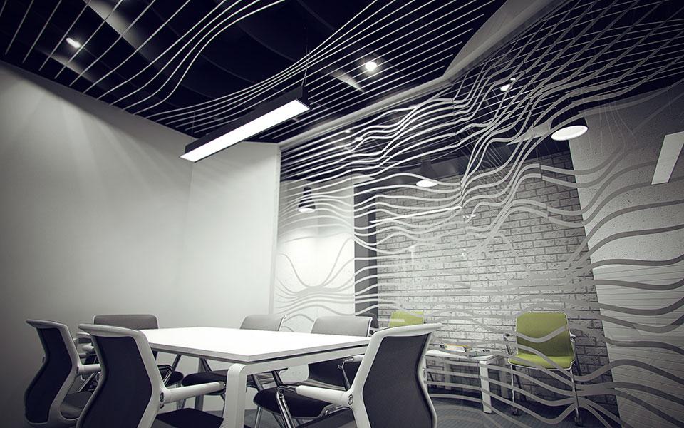интерьер переговорной - параметрический дизайн киев