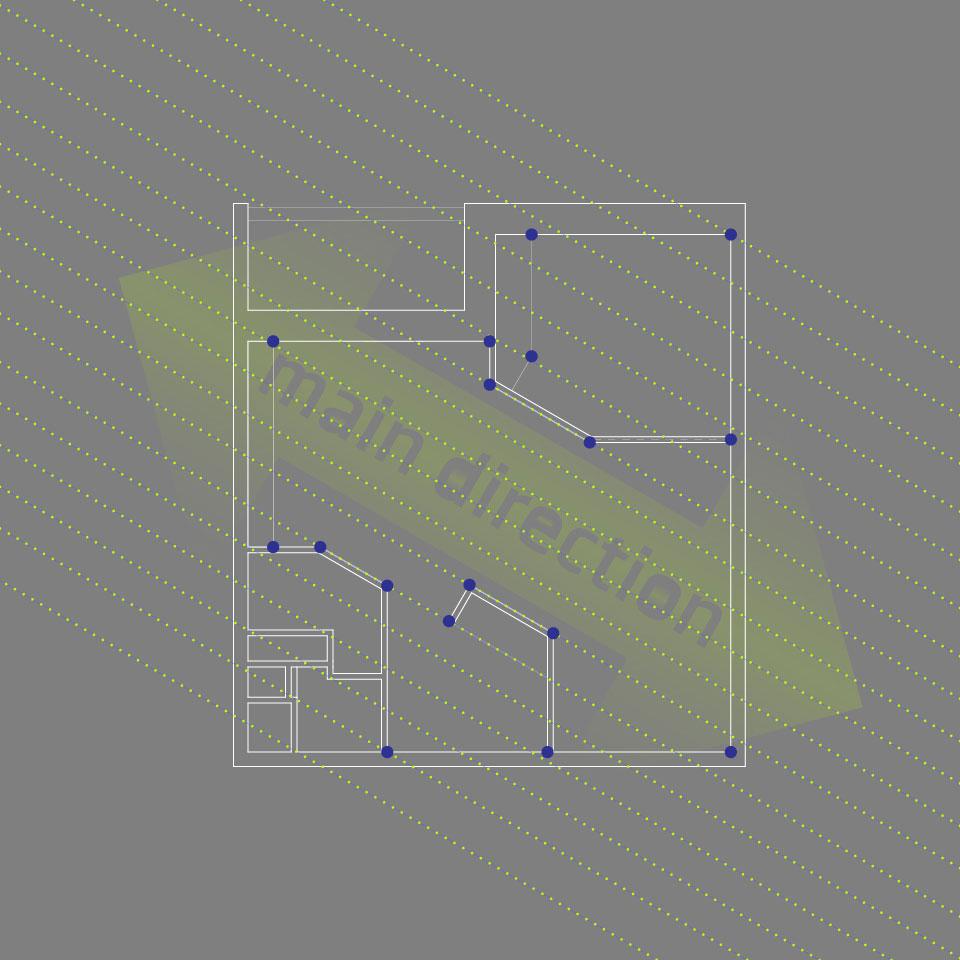 дизайн интерьера москва - план однокомнатной квартиры