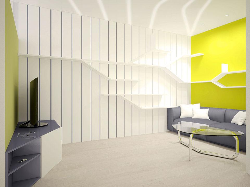 параметрический дизайн -интерьер квартиры в москве