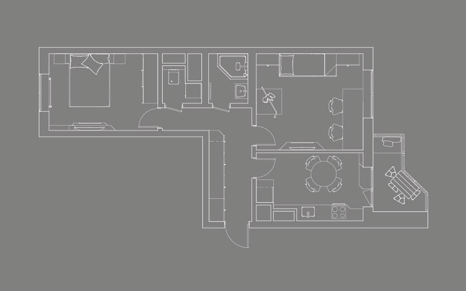 дизайн интерьера москва - планировка квартиры