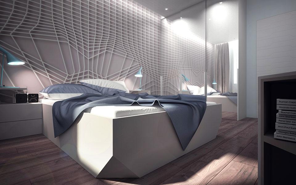дизайн квартиры москва - интерьер спальни