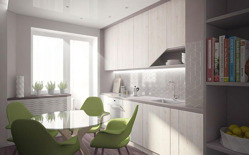 дизайн квартиры москва - интерьер кухни